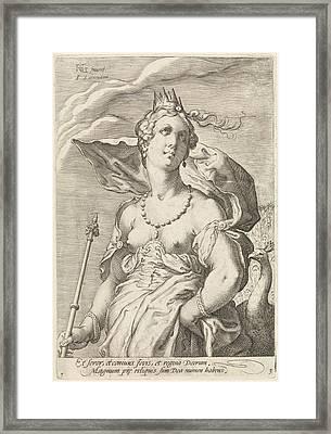 Juno, Jan Saenredam, Cornelius Schonaeus Framed Print