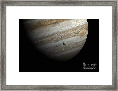Jupiter And Europas Water Vapor Framed Print by Science Source