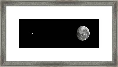 Jupiter And Moon Framed Print by Luis Argerich