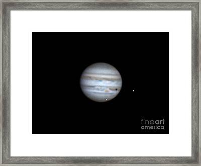 Jupiter And Moons, 2013 Framed Print by John Chumack