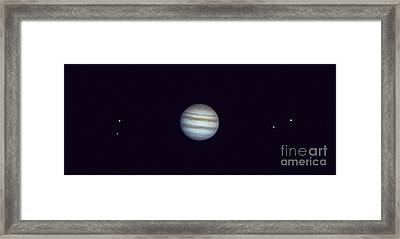 Jupiter And Moons Framed Print by John Chumack