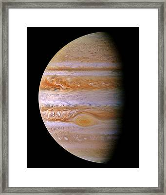 Jupiter And The Spot Framed Print by Benjamin Yeager