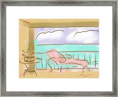 Jupiter Balcony Framed Print