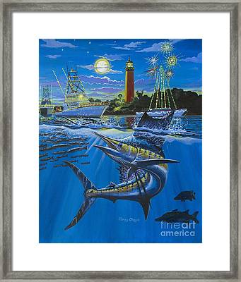 Jupiter Boat Parade Framed Print by Carey Chen