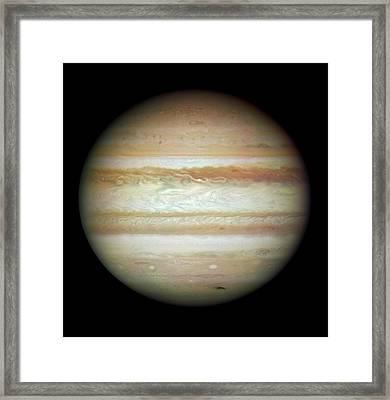 Jupiter In July 2009 Framed Print by Nasa/esa/stsci/ssi/jupiter Impact Team