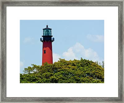 Jupiter Inlet Lighthouse Framed Print by Michelle Wiarda