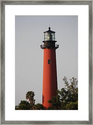 Framed Print featuring the photograph Jupiter Lighthouse by George Mount