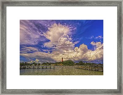 Jupiter Lighthouse II Framed Print