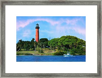 Jupiter Lighthouse Framed Print by Laura Fasulo