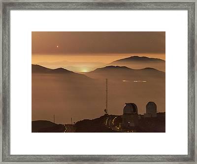 Jupiter Over La Silla Observatory Framed Print by Babak Tafreshi
