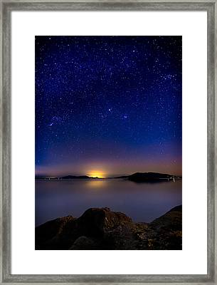 Jupiter Over Wildcat Cove Framed Print by Alexis Birkill
