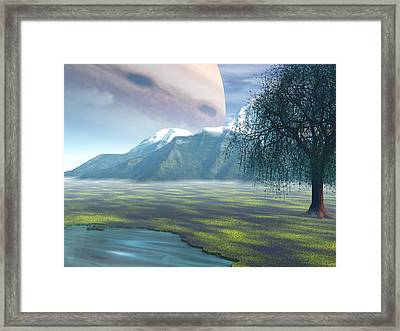 Jupiter Rising Framed Print
