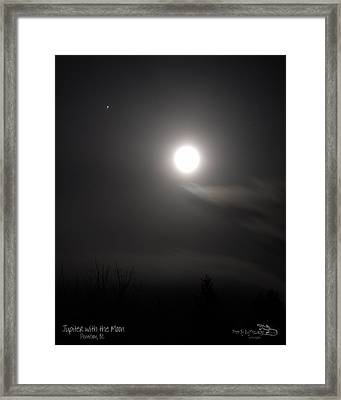 Jupiter With The Moon Framed Print by Guy Hoffman