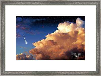 Jupiter's Stormy Sunset Framed Print by Tharsis Artworks