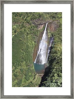 Jurassic Falls Framed Print