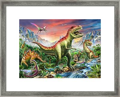 Jurassic Forest Framed Print