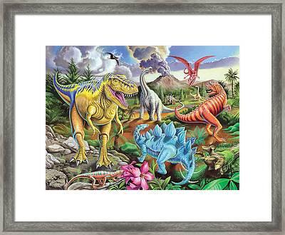 Jurassic Jubilee Framed Print