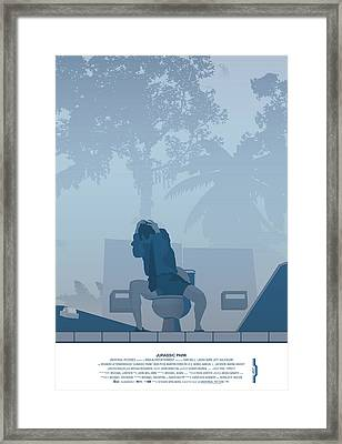 Jurassic Park Poster - Feat. Gennaro Framed Print by Peter Cassidy