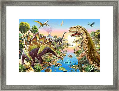 Jurassic River Framed Print by Adrian Chesterman
