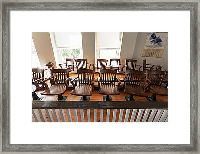 Jury Box In The Courtroom Of The Old Framed Print by Panoramic Images