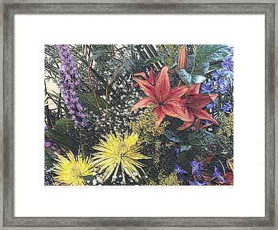 Just A Boquet Framed Print by Scott Kingery
