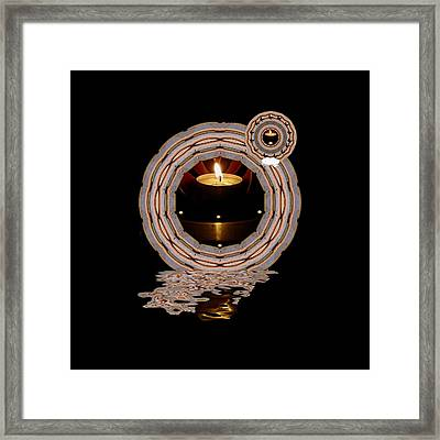 Just A Candle In The Wind Framed Print