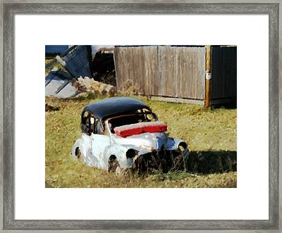Just A Coat Of Paint Framed Print by David Blank