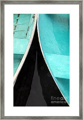 Just A Couple Of Dingys Framed Print by Edward Fielding