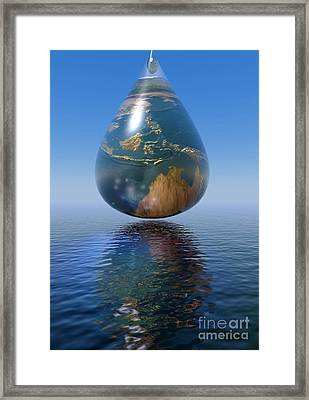 Just A Drop Framed Print by Shadowlea Is