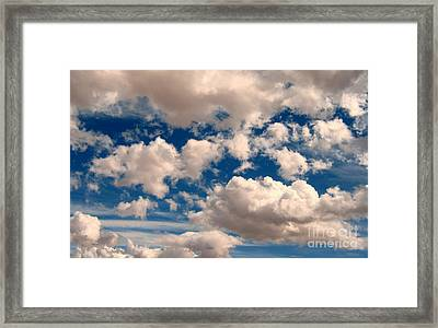 Framed Print featuring the photograph Just A Face In The Clouds by Janice Westerberg
