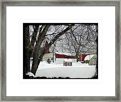 Just A Farm Framed Print by Dianne  Lacourciere