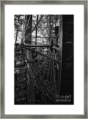 Just A Few Spokes Framed Print by Wayne Stacy