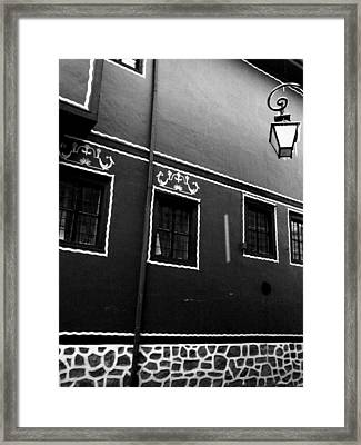 Just A House Framed Print by Lucy D
