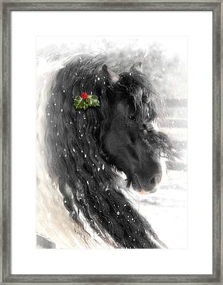 Just A Little Holly Will Do Framed Print