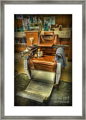 Just A Little Off The Top II - Barber Shop Framed Print by Lee Dos Santos