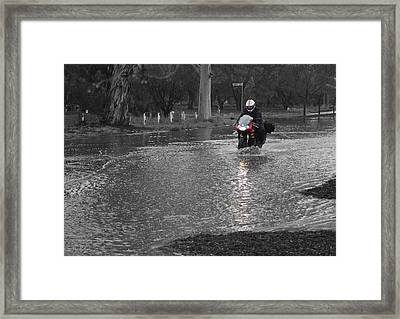 Just A Little Water Framed Print