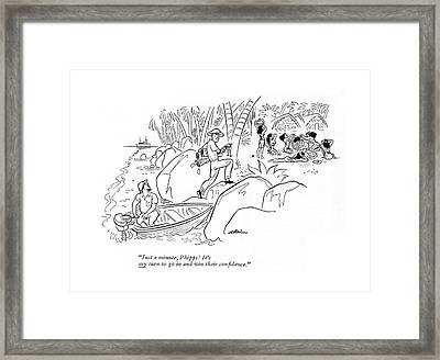 Just A Minute Framed Print by  Alain