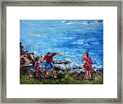 Just A Pebble In The Water Framed Print