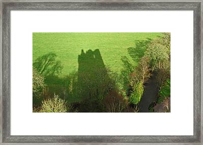 Just A Shadow Framed Print by Kathleen Scanlan