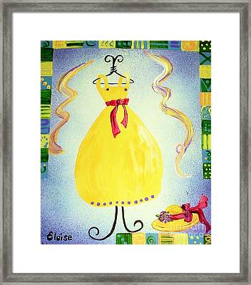 Framed Print featuring the painting Just A Simple Hat And Dress by Eloise Schneider