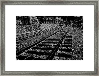 Framed Print featuring the photograph Just About Now by Nick David