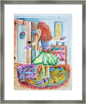 City Girl Gets Ready Framed Print