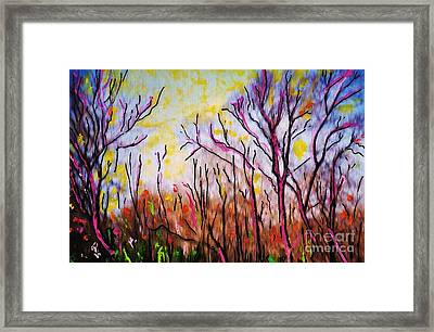 Just Across The River Framed Print by Sarah Loft