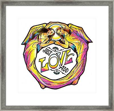 Just Add Love Framed Print by Dale Michels