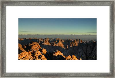 Framed Print featuring the pyrography Just After Sunrise by Julis Simo