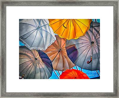 Just Ambrellas Framed Print