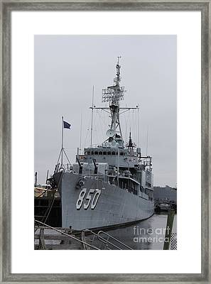 Just Another Battleship Photo Of The Uss Joseph P Kennedy Jr  Framed Print