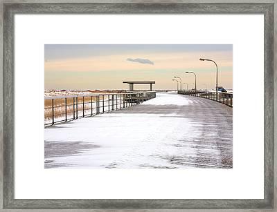 Just Another Boardwalk Framed Print
