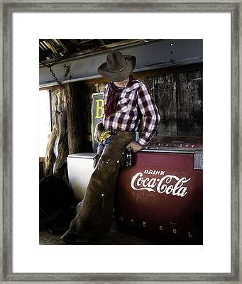 Just Another Coca-cola Cowboy 2 Framed Print