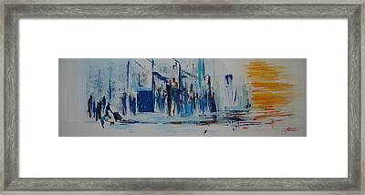 Just Another Day In New York City Framed Print